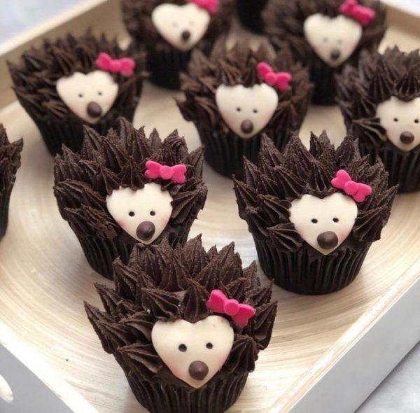 Hedgehog fondant cupcakes, hedgehog cupcakes, taylor made cakes