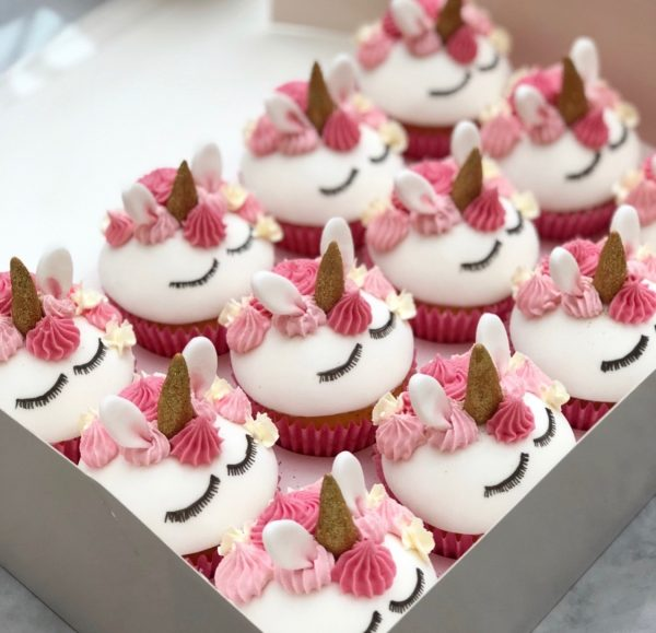 unicorn cupcakes, fondant unicorn cupcakes taylor made cakes,